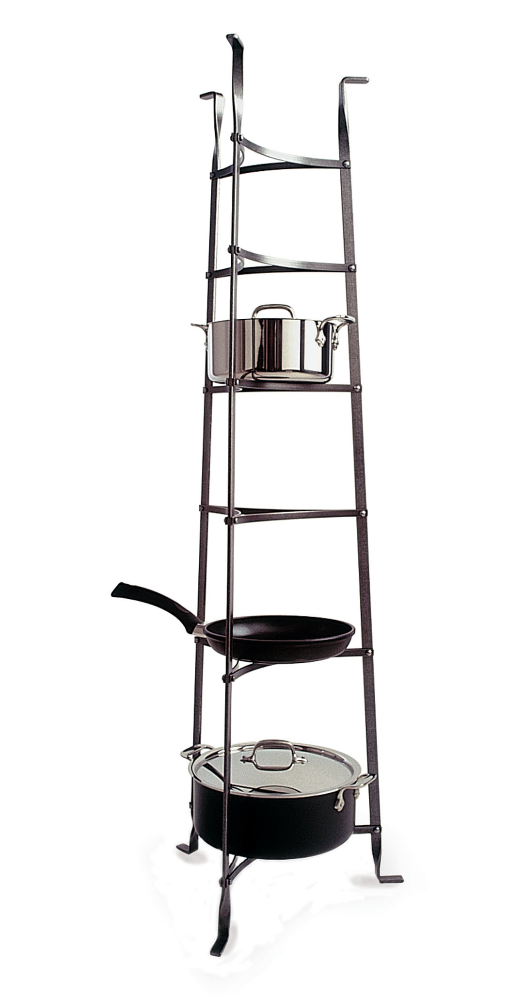 Enclume 6-Tier Cookware Stand in Hammered Steel