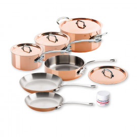 Mauviel M'150s - 10 pc. Copper Set - 1.5mm  S.S. Interior Cast Stainless Steel Handles