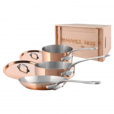 Mauviel M'150s - 5 pc. Copper Set - 1.5mm  S.S. Interior with Cast Stainless Steel Handles