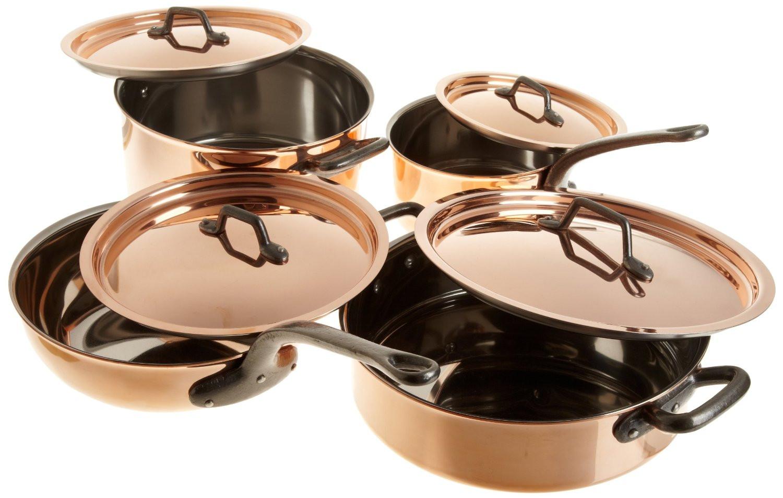 8 piece bourgeat copper cookware set bourgeat copper pan set