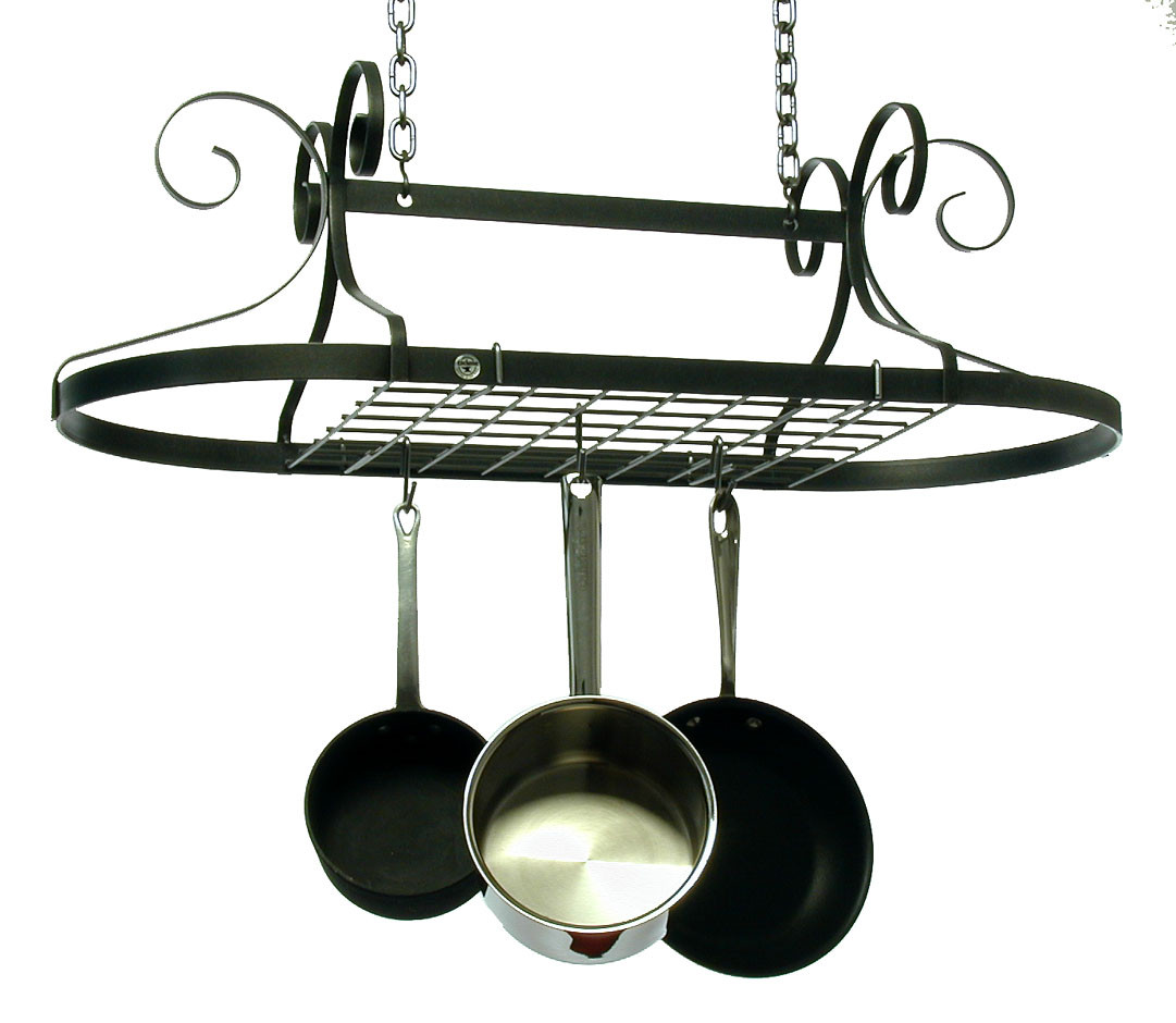Enclume Decor Oval Rack with Grid in Hammered Steel