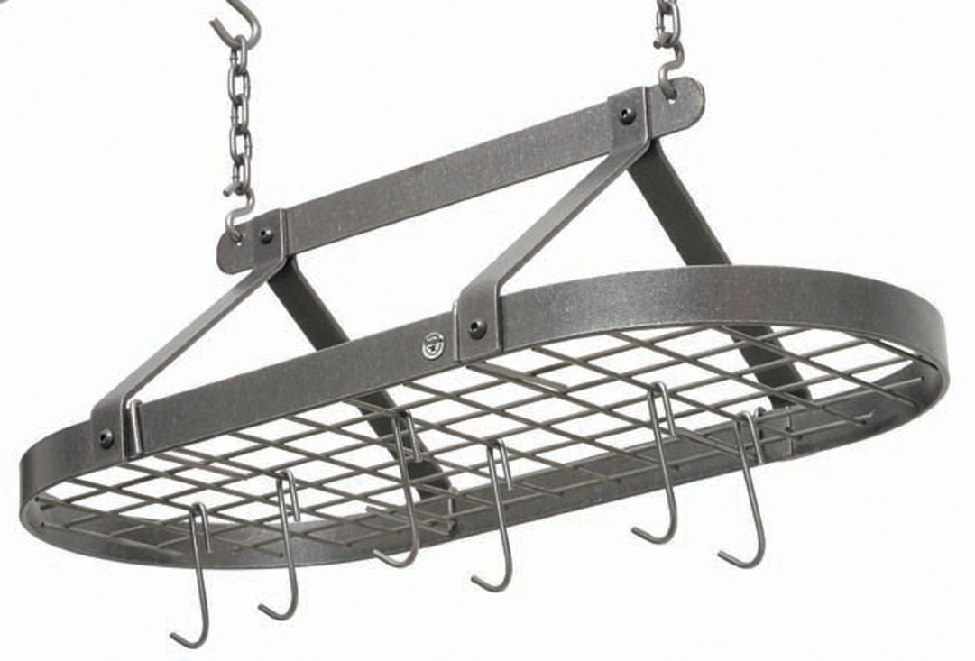 Enclume Decor Classic Oval Rack in Hammered Steel