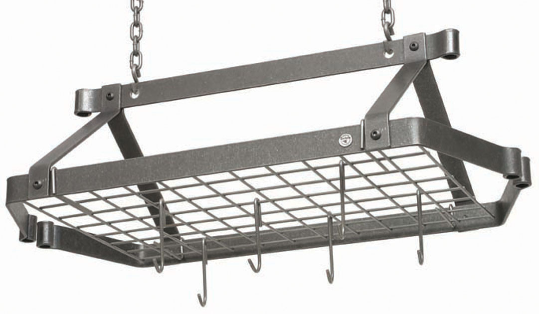 Enclume Decor Retro Rectangle Rack with Grid in Hammered Steel
