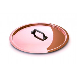 Mauviel Copper Lid - Professional Series Stainless steel lining and Cast Iron  Finish Handle