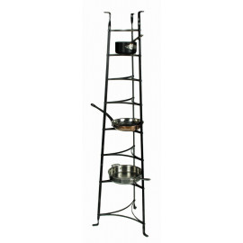 Enclume 8-Tier Cookware Stand in Hammered Steel