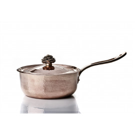 """Amoretti Brothers - Saute Pan with long handle - 11"""" w Flower Handle Lid"""