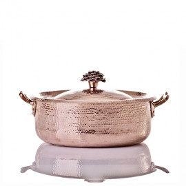 """Amoretti Brothers - Saute Pan Brazier - 9"""" w Flower Handle Lid"""