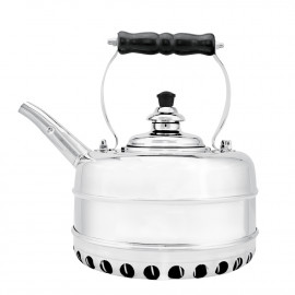 Simplex #4 Tea Kettle - Chrome Plated on Solid Copper